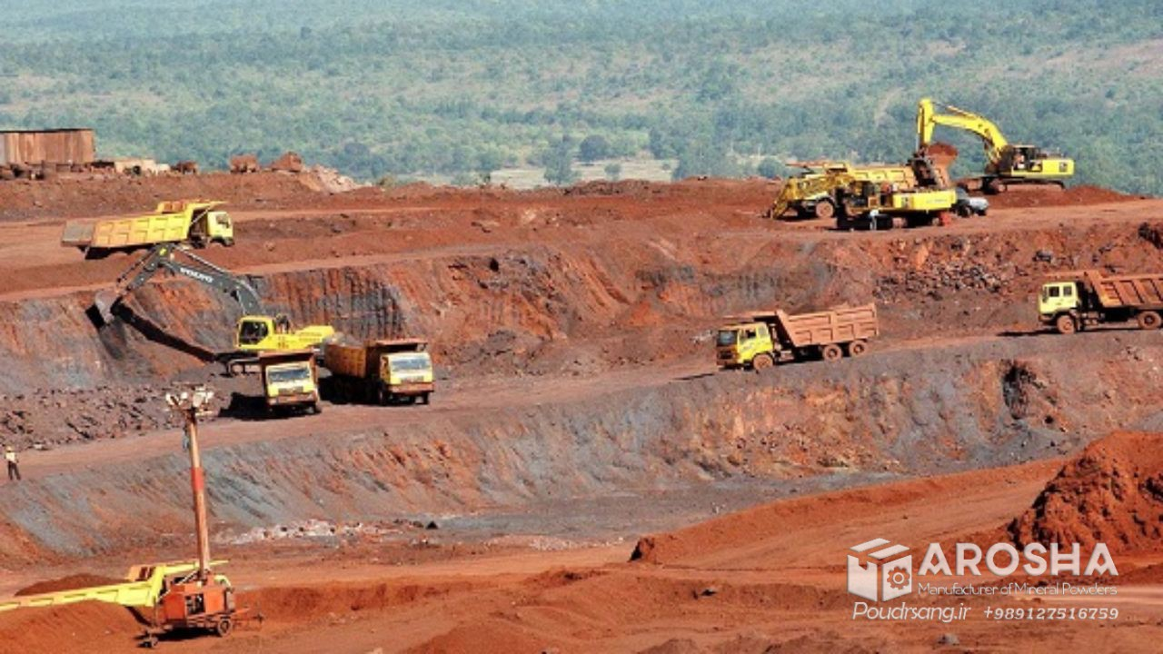 فروش اکسید آهن خاک هرمز پودر اخرا درجه یک